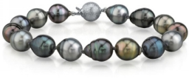 9-10mm Tahitian South Sea Multicolor Baroque Pearl Bracelet