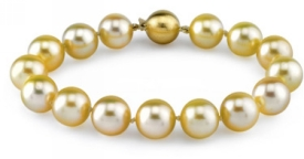 9-10mm Dark Golden South Sea Pearl Bracelet