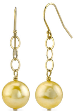 Buy Golden Pearl Dangling Tincup Earrings