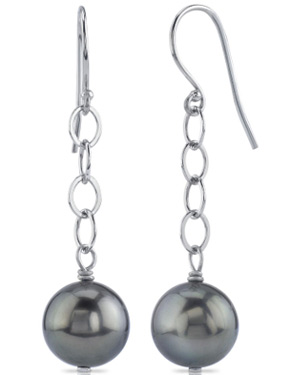 Tahitian Pearl Dangling Tincup Earrings
