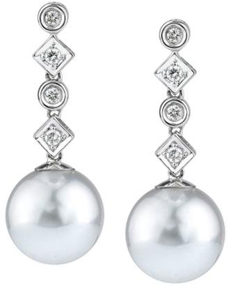 South Sea Pearl and Diamond Julia Earrings