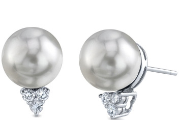 South Sea Pearl & Diamond Sea Breeze Earrings