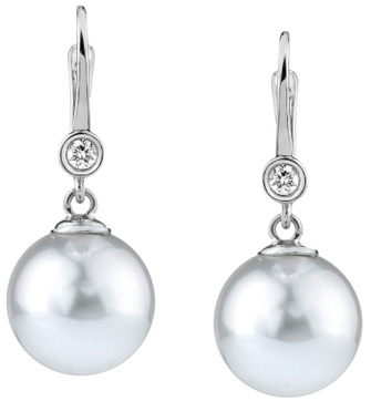South Sea & Diamond Michelle Earrings