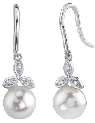 Akoya Pearl & Diamond Stephanie Earrings