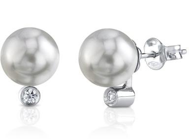 Buy South Sea Pearl Diamond Stud Earrings