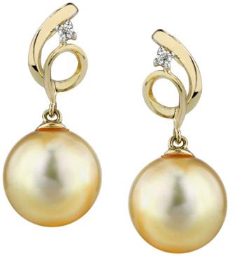 Golden Pearl & Diamond Symphony Earrings