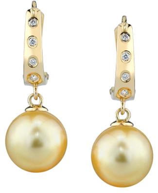 Buy Golden Pearl & Diamond Hayley Earrrings