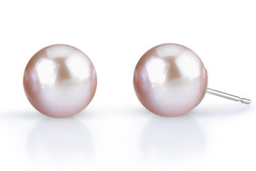 10mm Lavender Freshwater Pearl Stud Earrings (Earrings, Apples of Gold)