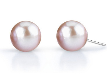 Buy 9mm Lavender Freshwater Pearl Stud Earrings