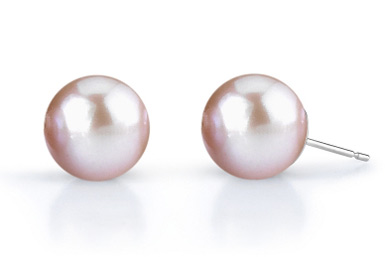 7mm Lavender Freshwater Pearl Stud Earrings