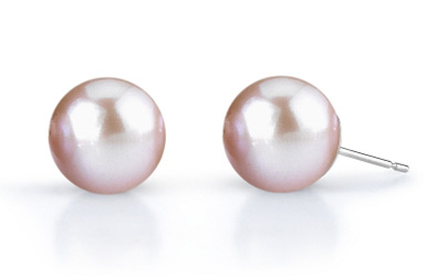 8mm Lavender Freshwater Pearl Stud Earrings