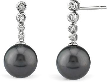 Buy Tahitian South Sea Diamond Links Pearl Earrings
