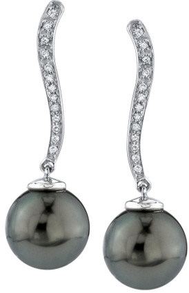 Tahitian Pearl & Diamond Celeste Earrings
