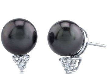 Tahitian Pearl & Diamond Sea Breeze Earrings