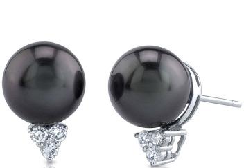 Tahitian Pearl & Diamond Sea Breeze Earrings