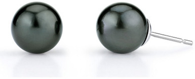 12mm Tahitian South Sea Pearl Stud Earrings (Earrings, Apples of Gold)