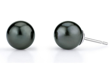 8mm Tahitian South Sea Pearl Stud Earrings