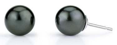 9mm Tahitian South Sea Pearl Stud Earrings