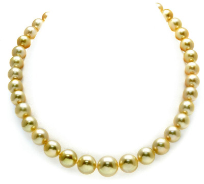 jewelpearl.com view the photo of  10-12mm Golden South Sea Pearl Necklace