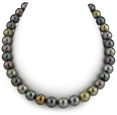 10-12mm Tahitian Multicolor Pearl Necklace - AAAA Quality