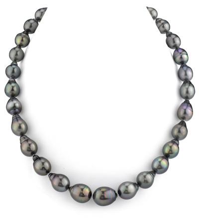 10-12.6mm Tahitian South Sea Drop-Shape Pearl Necklace
