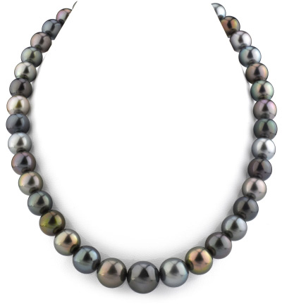 10-13mm Tahitian South Sea Multicolor Pearl Necklace (Necklaces, Apples of Gold)
