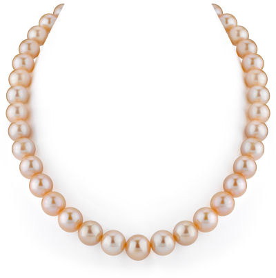 11-12mm Peach Freshwater Pearl Necklace