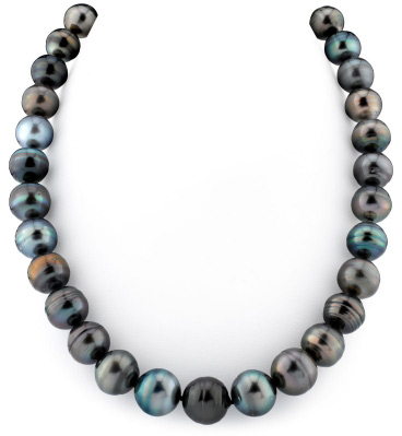 12-14mm Multicolor Tahitian South Sea Pearl Circle Baroque Necklace