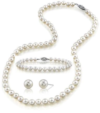 Buy 6.0-6.5mm Japanese Akoya White Pearl Set