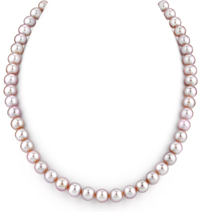 7-8mm Lavender Freshwater Pearl Necklace