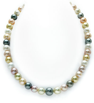 Buy 8-10mm South Sea Multicolor Pastel Pearl Necklace