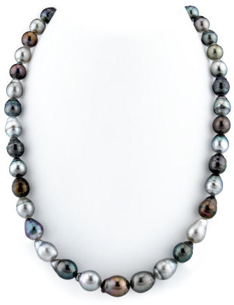 Buy 8-10mm Tahitian South Sea Multicolor Baroque Pearl Necklace