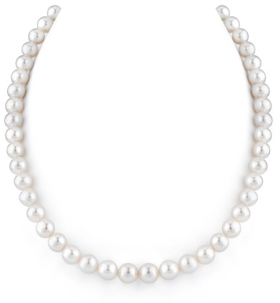 8-9mm White Freshwater Pearl Necklace