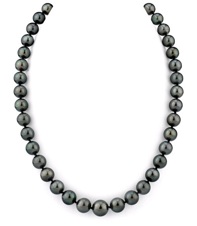 9-11mm Black Tahitian South Sea Pearl Necklace