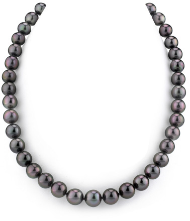 Buy 9-11mm Black Tahitian South Sea Pearl Necklace- AAAA Quality