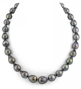 10-12.6mm Tahitian South Sea Drop-Shape Pearl Necklace