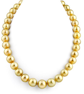 11-13mm Dark Golden South Sea Pearl Necklace