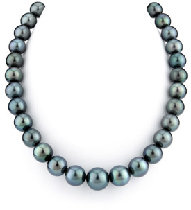 11-14mm Black Tahitian South Sea Pearl Necklace