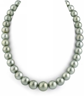 11-14mm Silver Tahitian South Sea Pearl Necklace