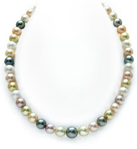 8-10mm South Sea Multicolor Pastel Pearl Necklace