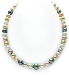 8-10mm South Sea Multicolor Pastel Pearl Necklace