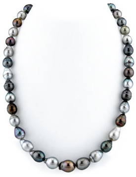8-10mm Tahitian South Sea Multicolor Baroque Pearl Necklace
