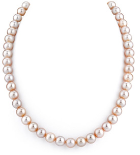 8-9mm Lavender Freshwater Pearl Necklace - AAAA Quality