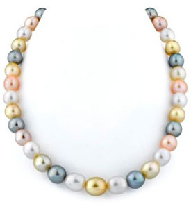 9-11mm South Sea & Freshwater Off-Round Pearl Necklace