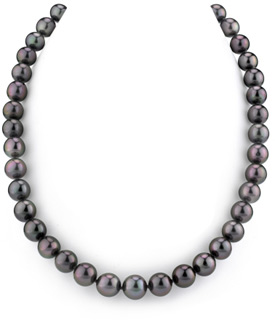 9-11mm Black Tahitian South Sea Pearl Necklace- AAAA Quality