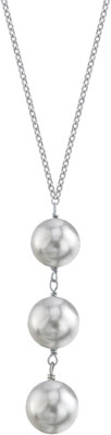 South Sea Pearl Triple Drop Pearl Pendant