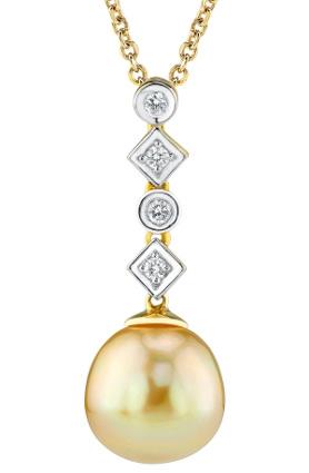 Buy Golden South Sea Pearl & Diamond Julia Pendant