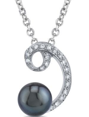 Tahitian Pearl & Diamond Luciana Pendant