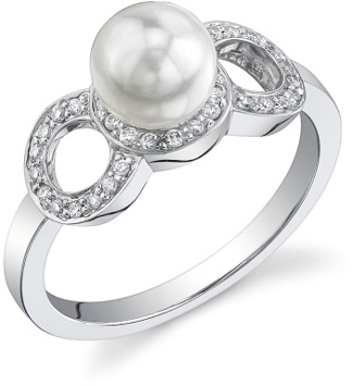 Akoya Pearl & Diamond Solaris Ring