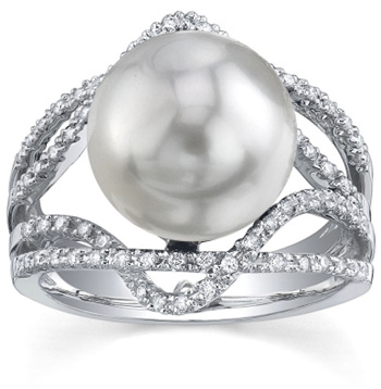 Buy South Sea Pearl & Diamond Savannah Ring